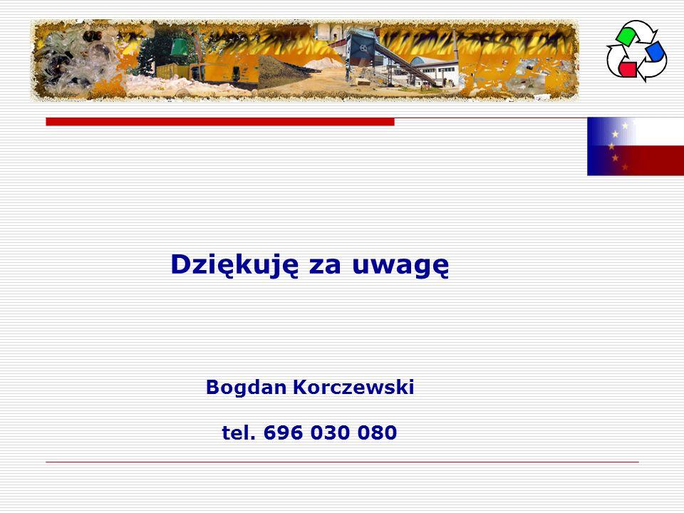 Dziękuję za uwagę Bogdan Korczewski tel. 696 030 080