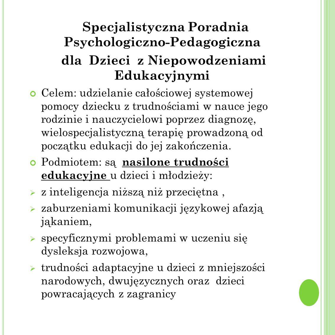 Specjalistyczna Poradnia Psychologiczno-Pedagogiczna