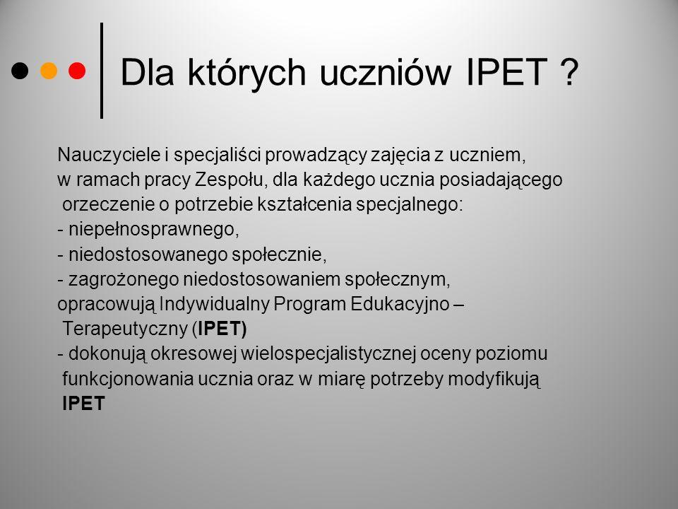 Dla których uczniów IPET