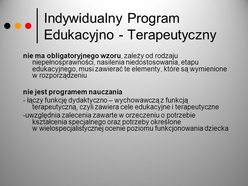 Indywidualny Program Edukacyjno - Terapeutyczny