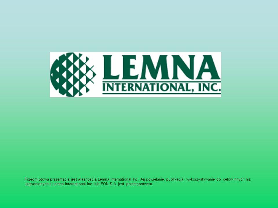Przedmiotowa prezentacją jest własnością Lemna International Inc