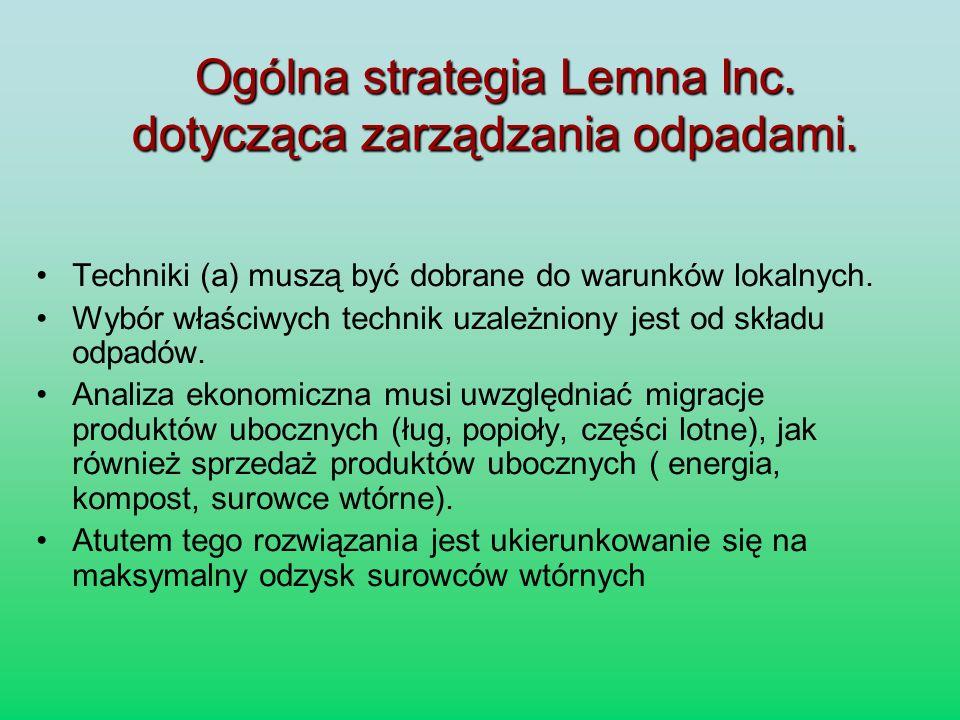 Ogólna strategia Lemna Inc. dotycząca zarządzania odpadami.