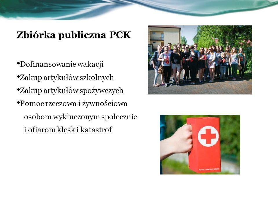 Zbiórka publiczna PCK Dofinansowanie wakacji Zakup artykułów szkolnych