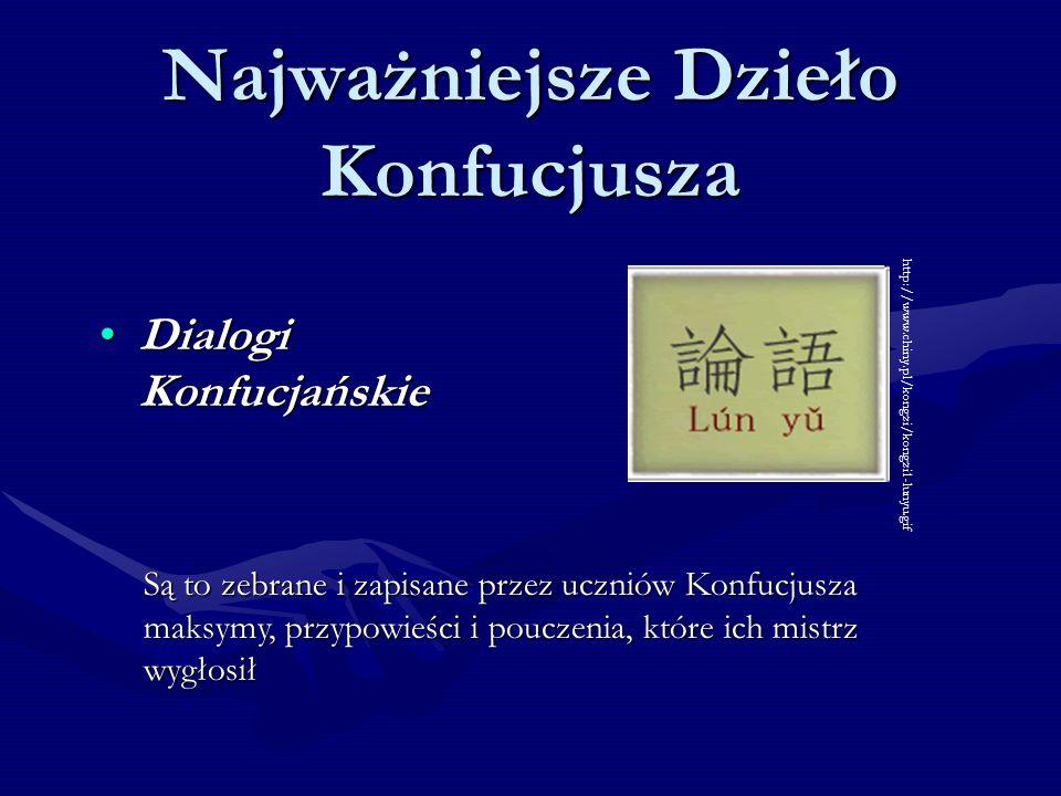 Najważniejsze Dzieło Konfucjusza