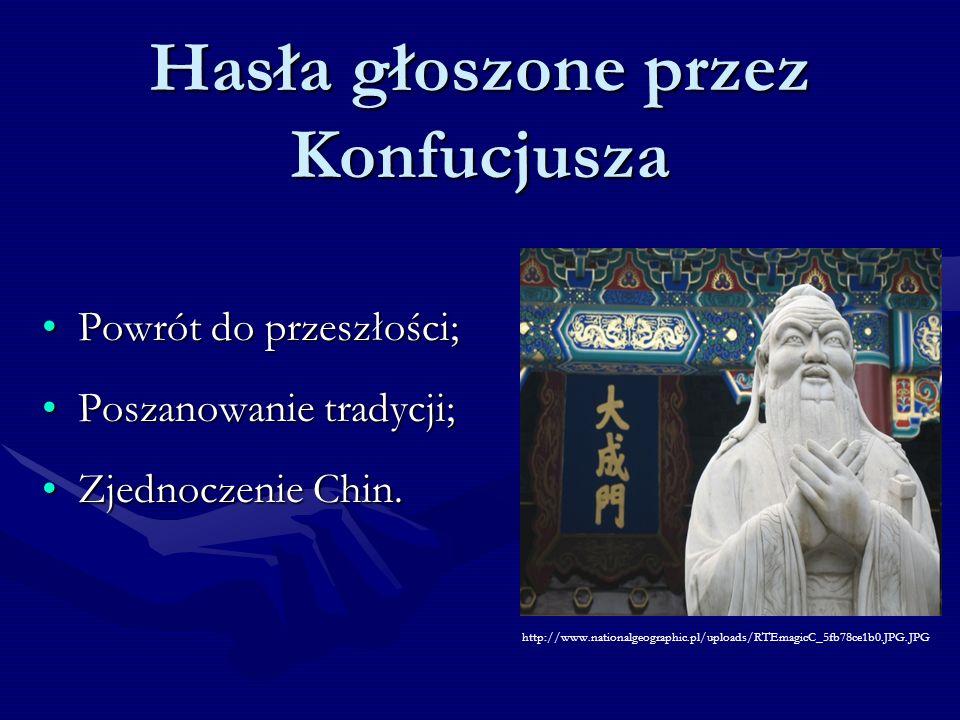 Hasła głoszone przez Konfucjusza