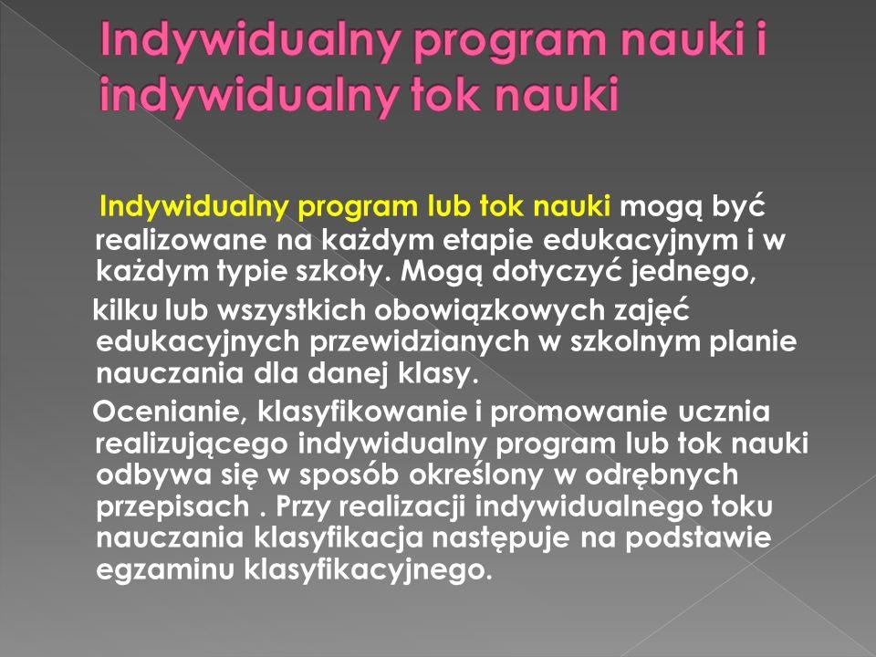 Indywidualny program nauki i indywidualny tok nauki