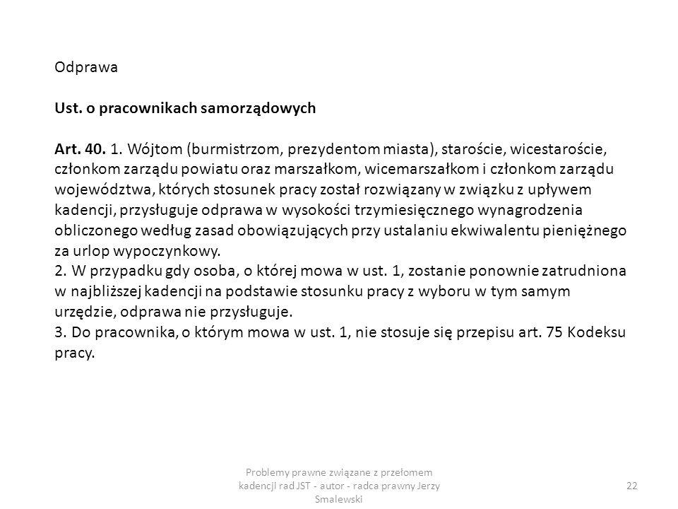 Ust. o pracownikach samorządowych