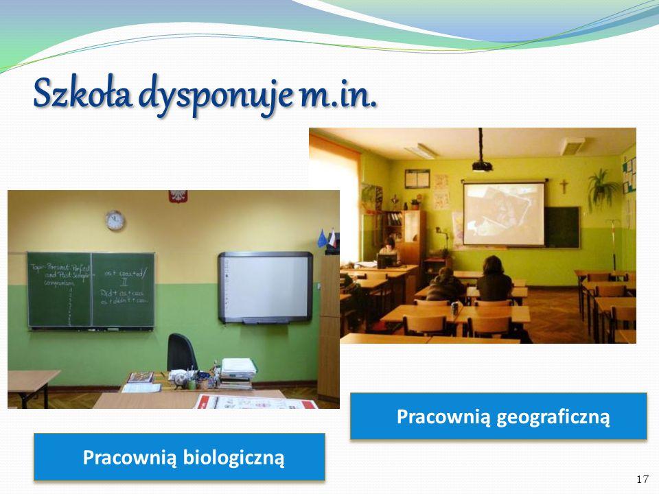 Pracownią geograficzną Pracownią biologiczną