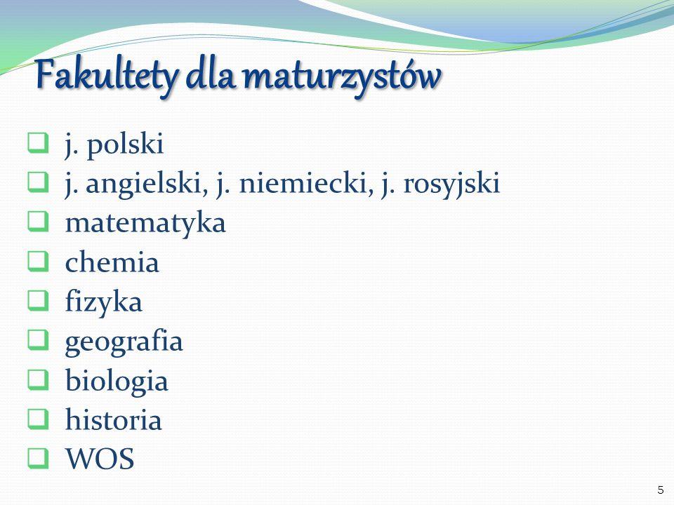 Fakultety dla maturzystów