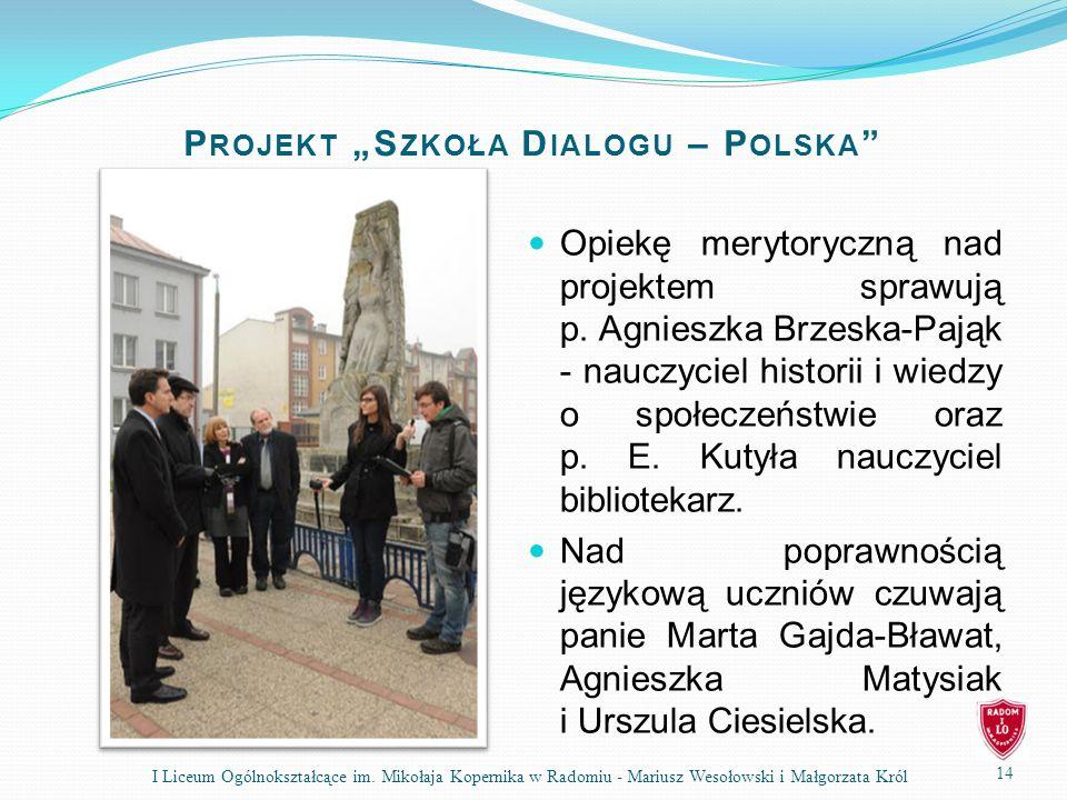 """Projekt """"Szkoła Dialogu – Polska"""