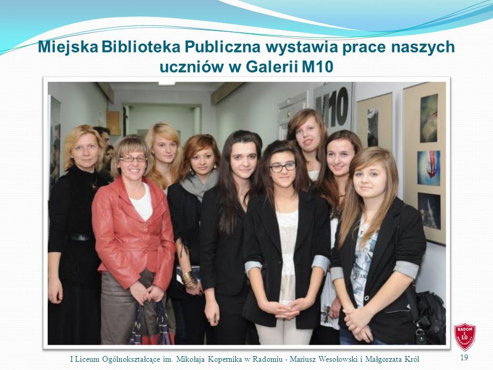 Miejska Biblioteka Publiczna wystawia prace naszych uczniów w Galerii M10