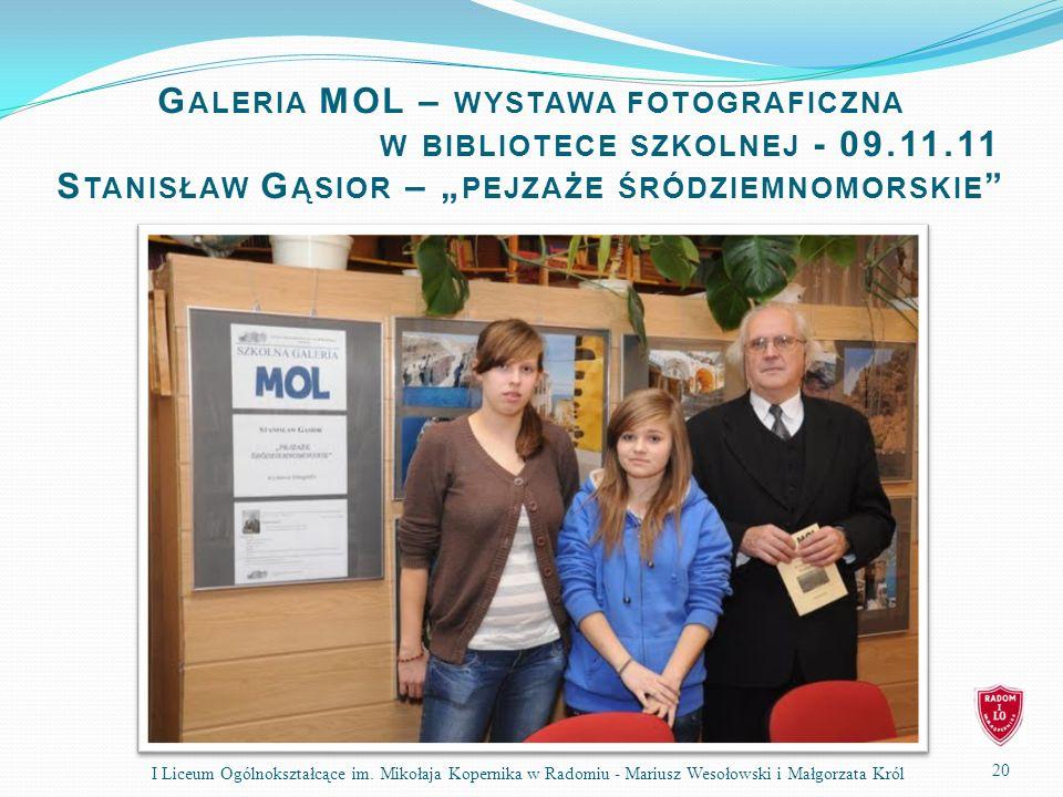 Galeria MOL – wystawa fotograficzna. w bibliotece szkolnej - 09. 11