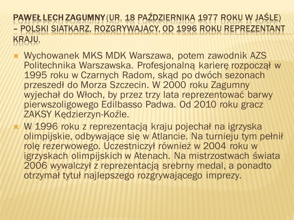 Paweł Lech Zagumny (ur. 18 października 1977 roku w Jaśle) – polski siatkarz, rozgrywający, od 1996 roku reprezentant kraju.