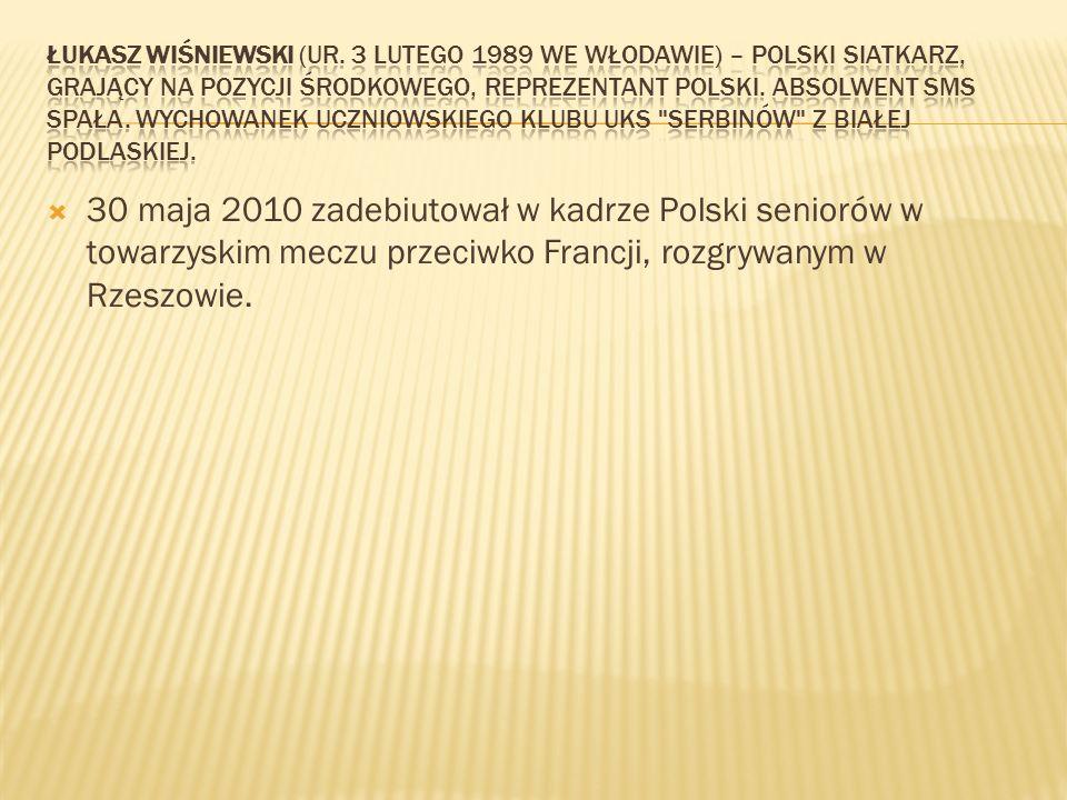 Łukasz Wiśniewski (ur. 3 lutego 1989 we Włodawie) – polski siatkarz, grający na pozycji środkowego, reprezentant Polski. Absolwent SMS Spała. Wychowanek uczniowskiego klubu UKS Serbinów z Białej Podlaskiej.