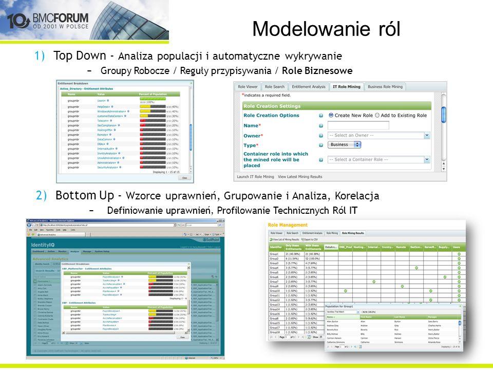 Modelowanie ról Top Down - Analiza populacji i automatyczne wykrywanie