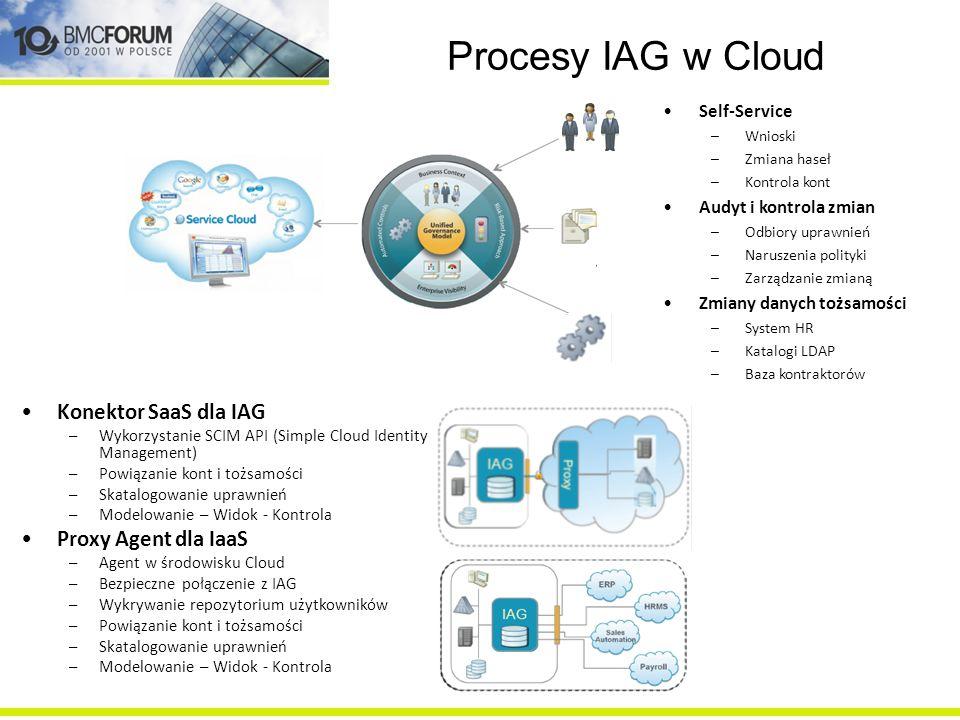 Procesy IAG w Cloud Konektor SaaS dla IAG Proxy Agent dla IaaS