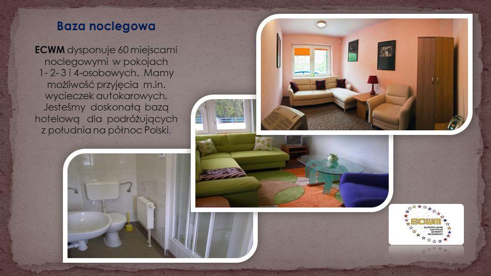Baza noclegowa ECWM dysponuje 60 miejscami noclegowymi w pokojach 1- 2- 3 i 4-osobowych.