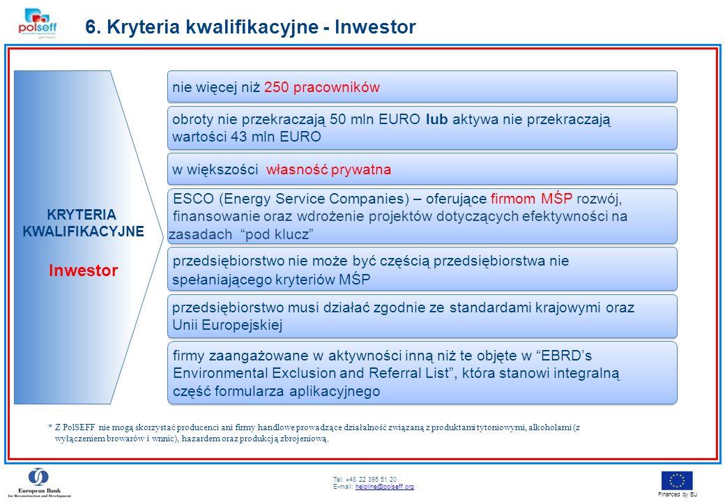 6. Kryteria kwalifikacyjne - Inwestor