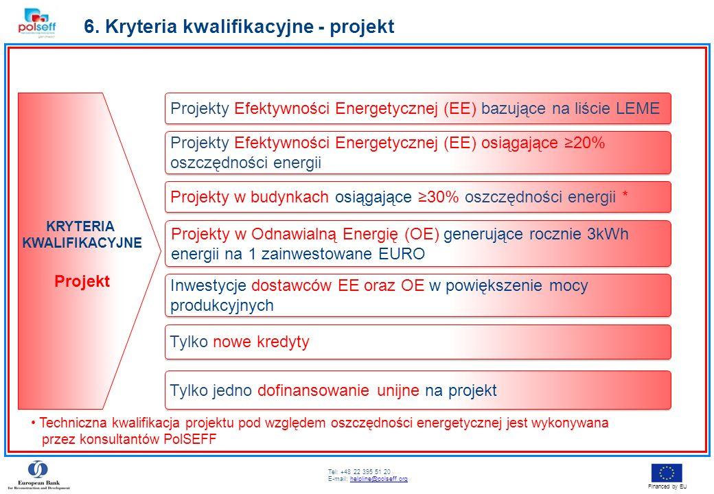6. Kryteria kwalifikacyjne - projekt
