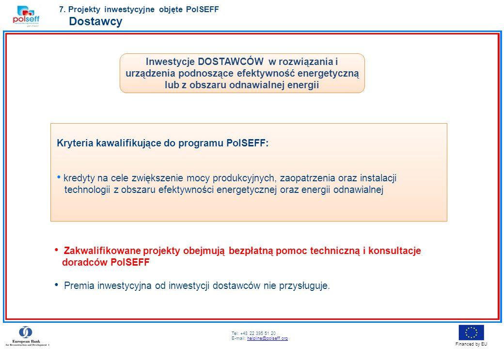 7. Projekty inwestycyjne objęte PolSEFF