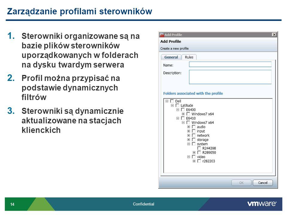 Zarządzanie profilami sterowników