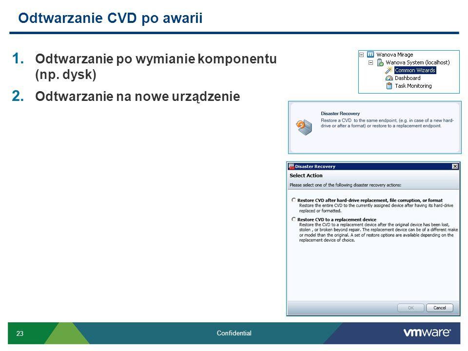 Odtwarzanie CVD po awarii