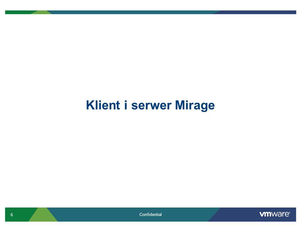 Klient i serwer Mirage