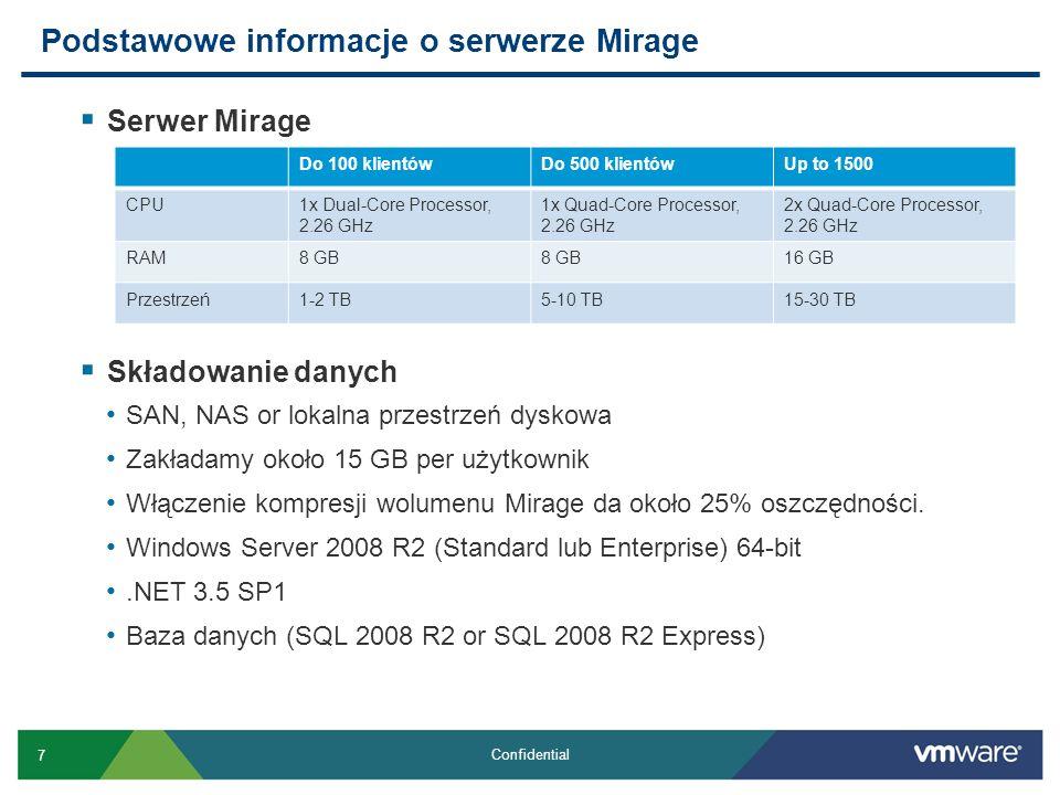 Podstawowe informacje o serwerze Mirage