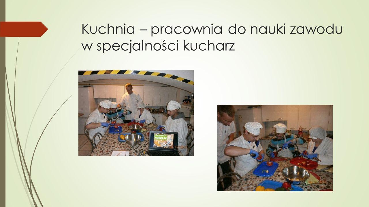 Kuchnia – pracownia do nauki zawodu w specjalności kucharz