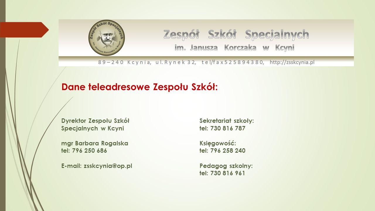 Dane teleadresowe Zespołu Szkół:
