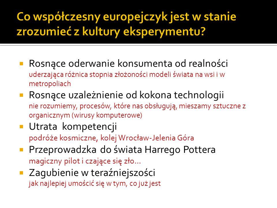 Co współczesny europejczyk jest w stanie zrozumieć z kultury eksperymentu