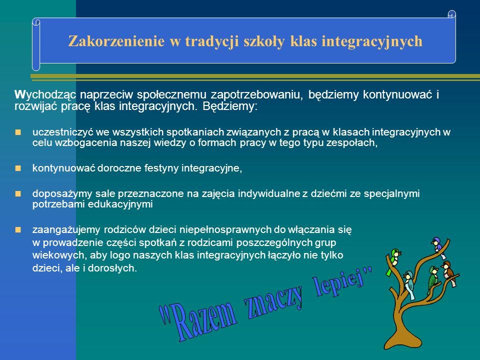 Zakorzenienie w tradycji szkoły klas integracyjnych