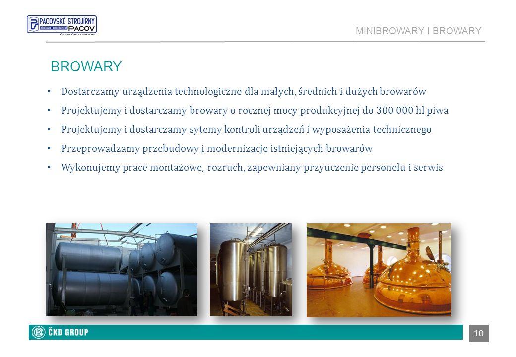 GDGSDGSDG MINIBROWARY I BROWARY. BROWARY. Dostarczamy urządzenia technologiczne dla małych, średnich i dużych browarów.
