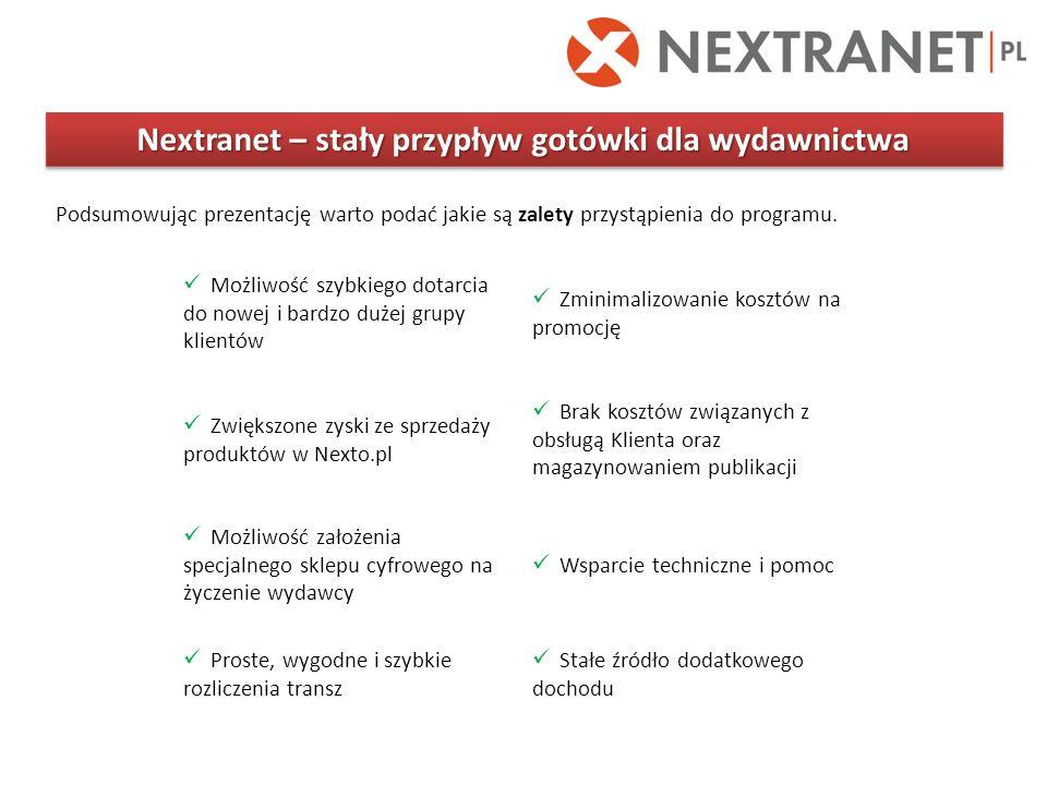 Nextranet – stały przypływ gotówki dla wydawnictwa