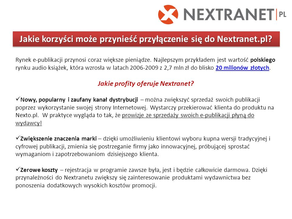 Jakie korzyści może przynieść przyłączenie się do Nextranet.pl