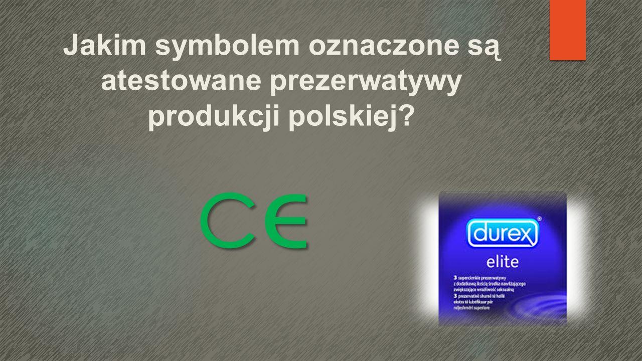Jakim symbolem oznaczone są atestowane prezerwatywy produkcji polskiej