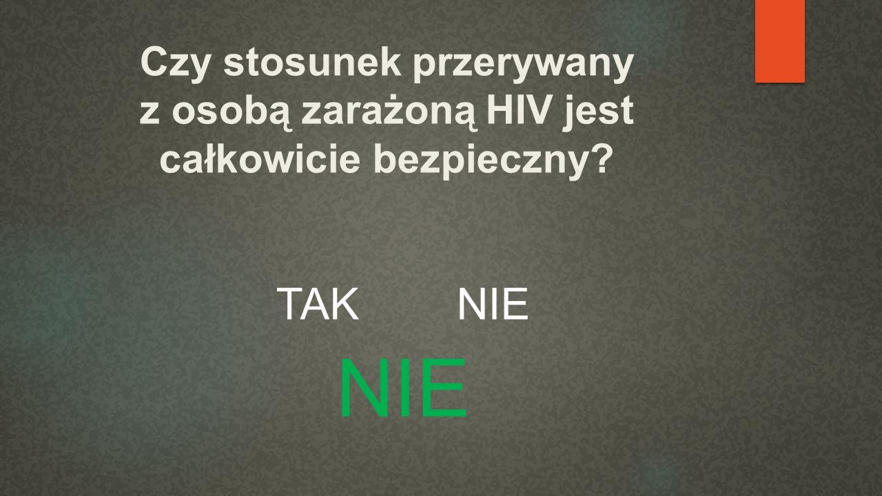 Czy stosunek przerywany z osobą zarażoną HIV jest całkowicie bezpieczny