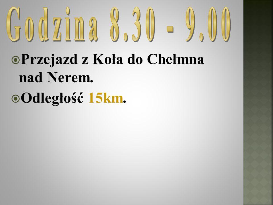 Przejazd z Koła do Chełmna nad Nerem. Odległość 15km.