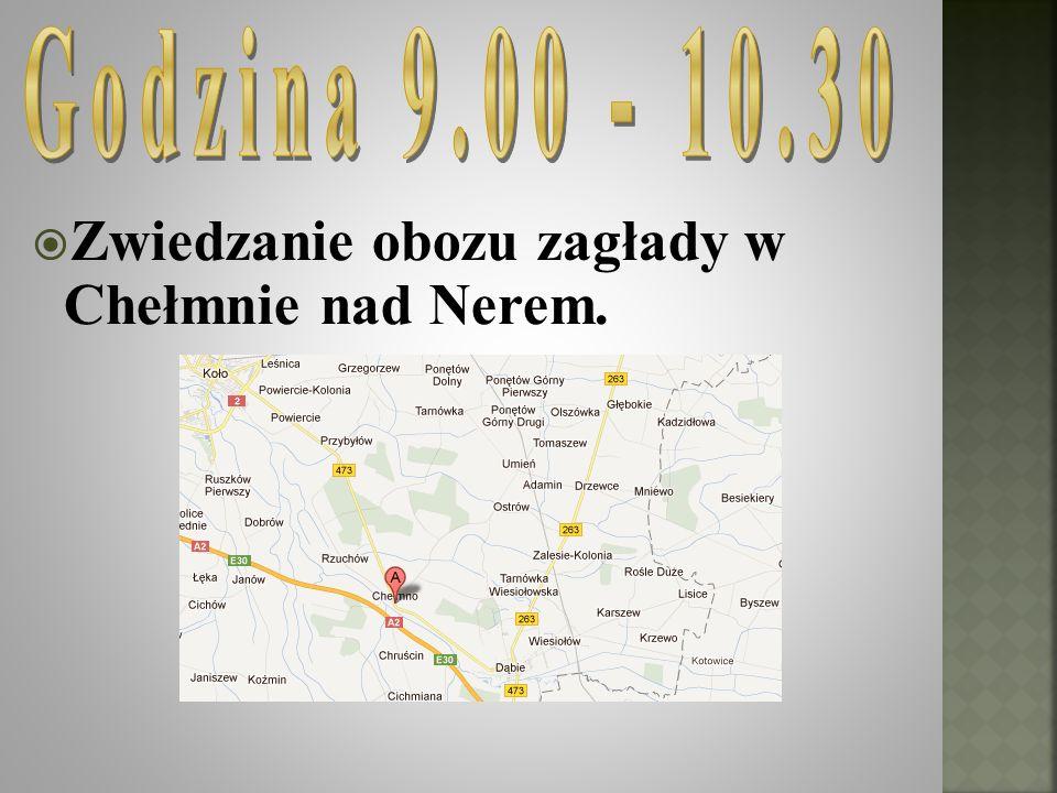 Zwiedzanie obozu zagłady w Chełmnie nad Nerem.