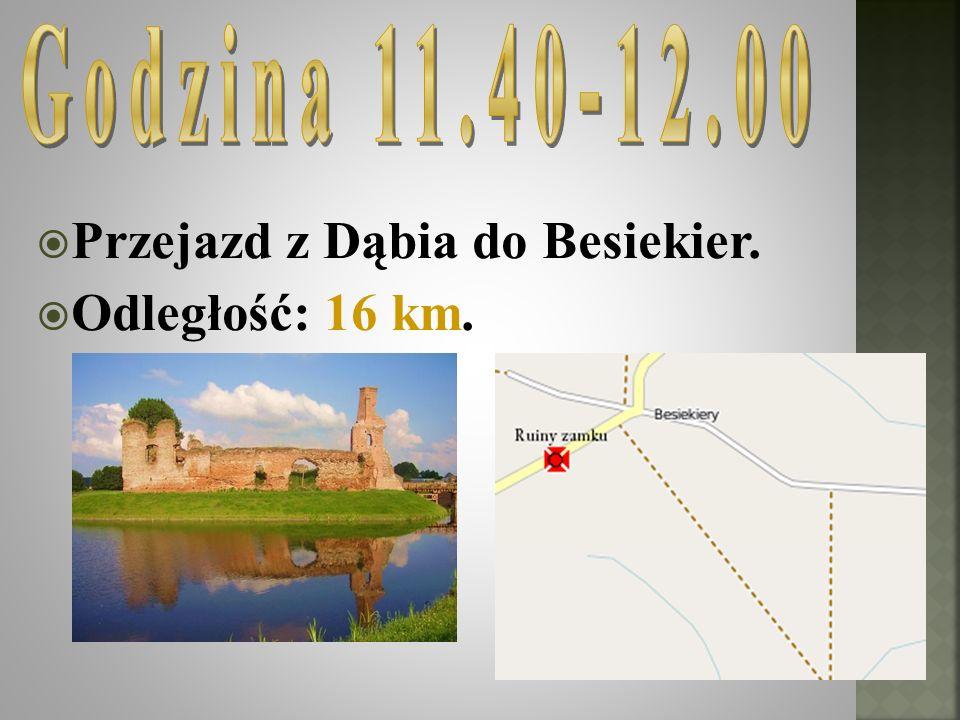 Przejazd z Dąbia do Besiekier. Odległość: 16 km.
