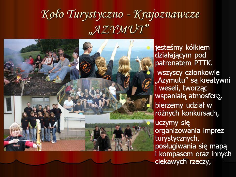 """Koło Turystyczno - Krajoznawcze """"AZYMUT"""