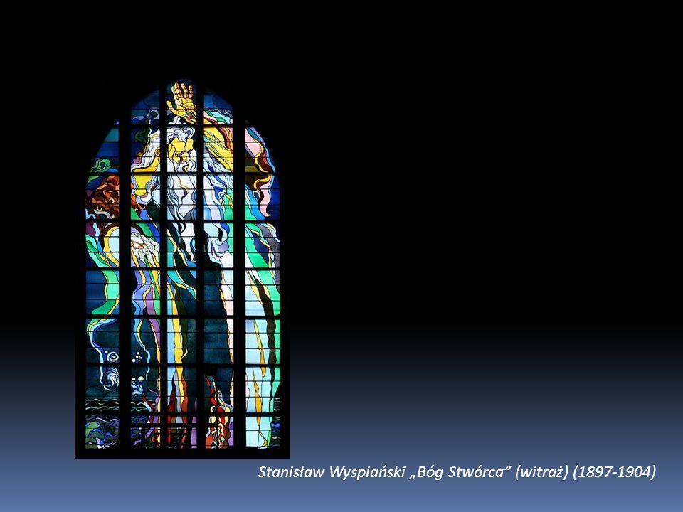 """Stanisław Wyspiański """"Bóg Stwórca (witraż) (1897-1904)"""