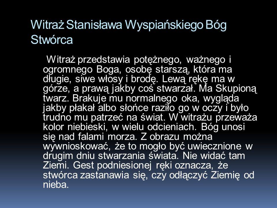 Witraż Stanisława Wyspiańskiego Bóg Stwórca