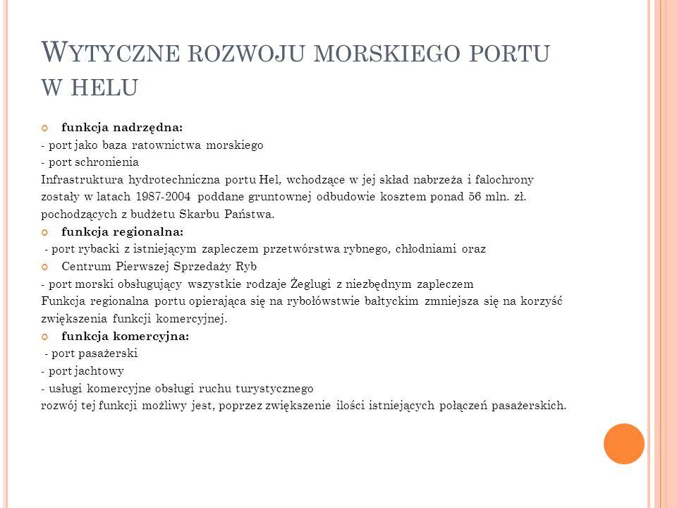 Wytyczne rozwoju morskiego portu w helu