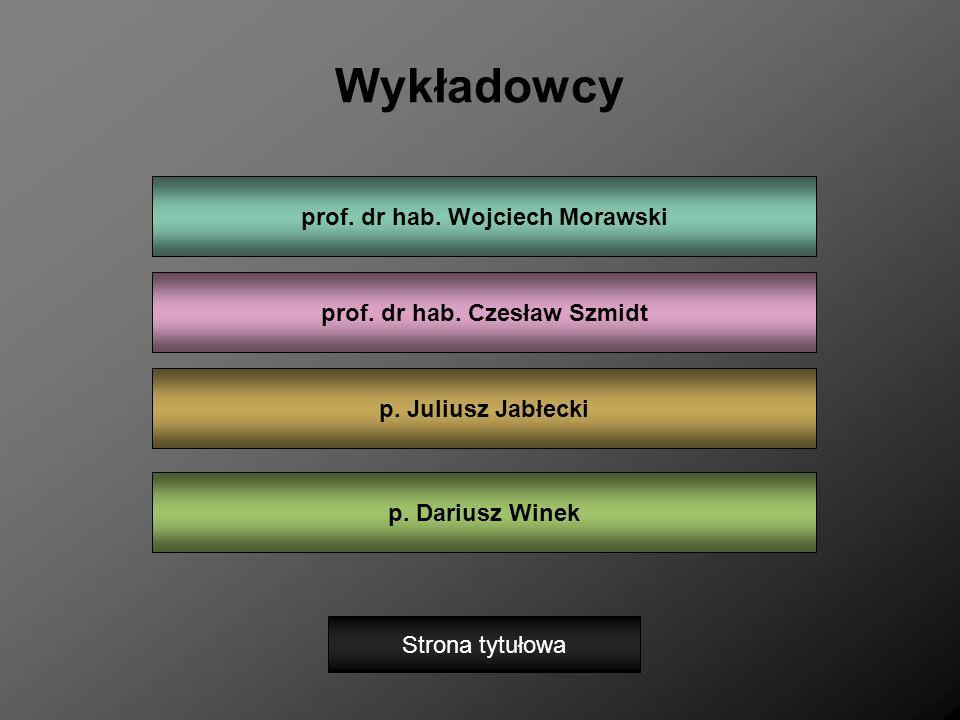 prof. dr hab. Wojciech Morawski prof. dr hab. Czesław Szmidt