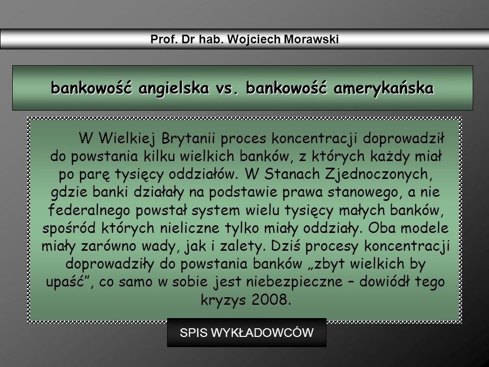 bankowość angielska vs. bankowość amerykańska