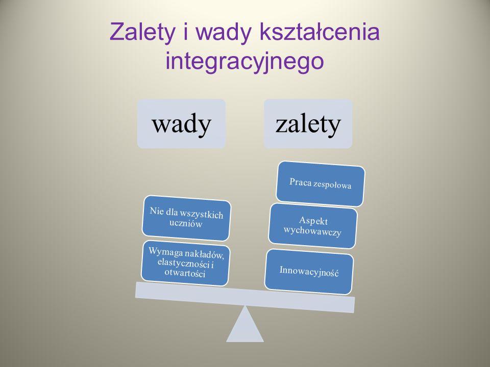 Zalety i wady kształcenia integracyjnego