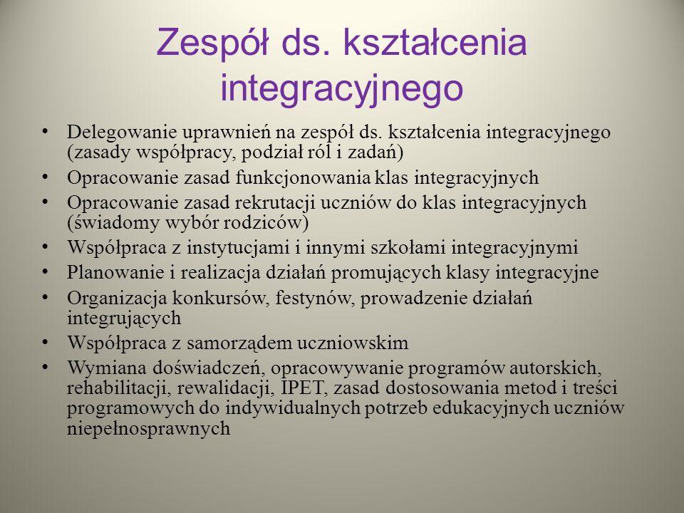 Zespół ds. kształcenia integracyjnego