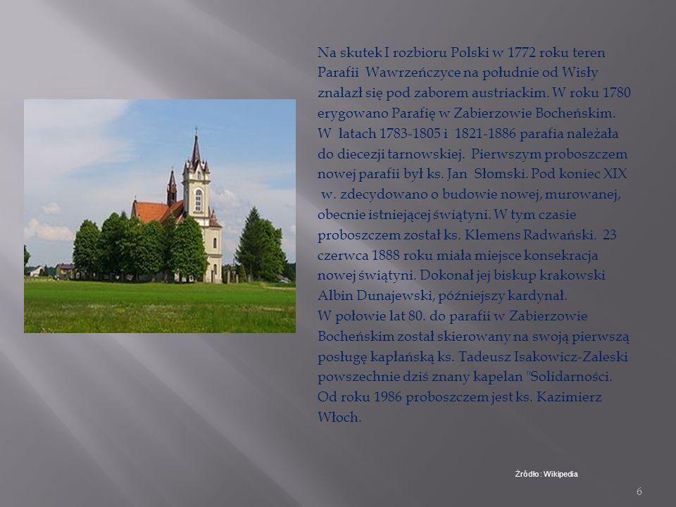 Na skutek I rozbioru Polski w 1772 roku teren