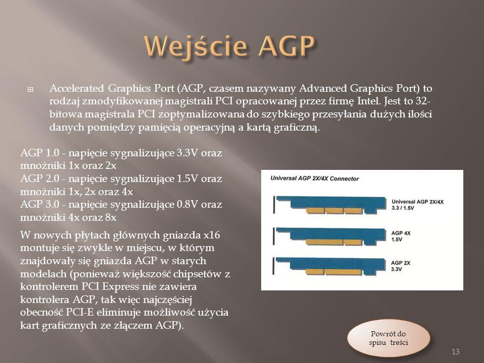 Wejście AGP